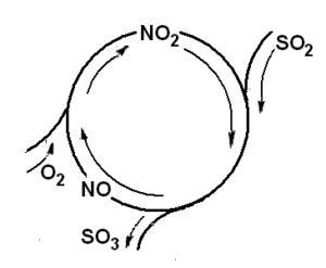 Каталитический цикл реакции окисления SO2